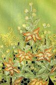 Green Kebaya With Orange Flowers