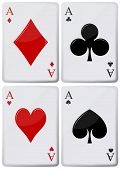 stock photo of ace spades  - illustration of aces of playing cards spades hearts clubs - JPG