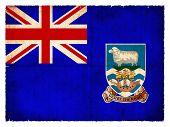Grunge Flag Of The Falkland Islands  (british Overseas Territory)