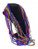 Mardi Gras Beads On A Neck Form