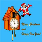 Santa Claus Congratulates From A Cuckoo Clock
