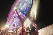 A Carnival wheel in motion