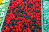 colorful bonbons at the market