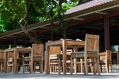Outdoor Restaurant In Wooden Ctyle