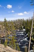 Cascades of the Lewis River in Yellowstone National Park