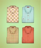 Vector set of a colored shirts
