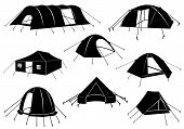 Set of tents isolated