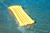 Yellow Floating air mattress