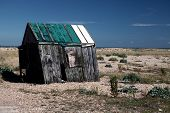 foto of wooden shack  - abandoned fishing hut or shed - JPG