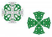 Green Celtic Crosses