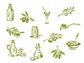 Azeitonas verdes e óleo orgânico