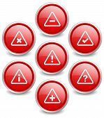 Set of 7 popular buttons - Attention