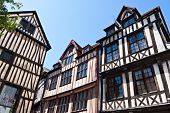 Half-timbered Houses At Rouen, Normandy, France