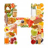 Letter H Made Of Food
