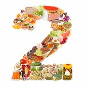 Number 2 Made Of Food
