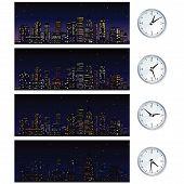 Night Time Skyline. Set of Vector Illustrations