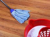 Mopping Of Wooden Floors