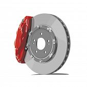vector brake disc on white background