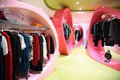 Moderne kleding winkel