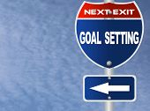 stock photo of goal setting  - Goal setting road sign - JPG