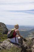 Young Woman Sittin Mt Maroon