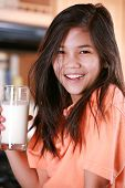 Child Holding Glass Of Milk