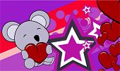 koala baby cartoon valentine background