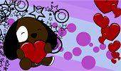 dog baby cute valentine background