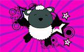 sheep baby animal jumping background