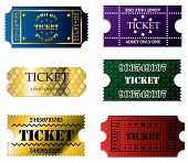 Various Ticket Set Of Six
