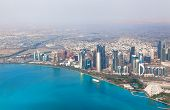 Doha, Qatar. Bird's-eye View On The Modern City