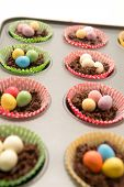 Chocolate Easter Nests About To Go In The Oven
