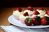 Strawberry And Vanilla Cream Cupcakes