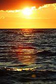 Sea Sunset at Zadar. Croatia.