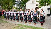 SIROGOJNO, SERBI - JULY 12: Dancers of Folklore ensembles on festival Petrovdan's days on July 12, 2