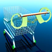 pic of handlock  - Theft in shop conceptual illustration - JPG