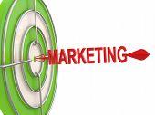 Success Concept. Marketing Target. 3D Model