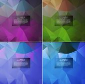 picture of parallelepiped  - Abstract pattern of geometric shapes - JPG