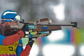 SEEFELD, AUSTRIA - JANUARY 19  Aleksei Kuznetcov of team Russia is disqualified in the mixed biathlo