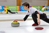 INNSBRUCK, AUSTRIA - JANUARY 20 Alessandro Zoppi (Italy) and his partner from Estonia lose 10:3 to R