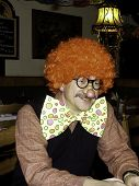 Clown In Red Wig