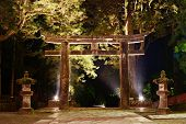 The ishidori is a stone tori gate in Nikko, Japan.
