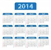Calendar 2014 Blue