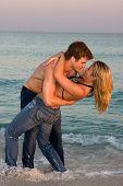 Abraço do casal no Surf