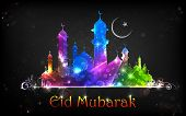 pic of eid ka chand mubarak  - illustration of Eid Mubarak  - JPG