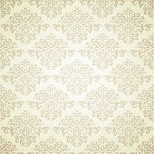 Retro damask pattern on light beige background