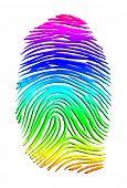 Regenbogen-Fingerabdruck