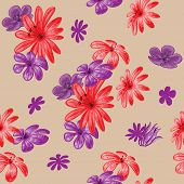 Cute floral seamless pattern