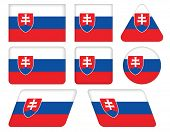 Buttons With Flag Of Slovakia