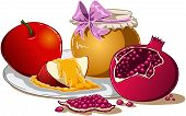 Honey Apple And Pomegranate For Rosh Hashanah
